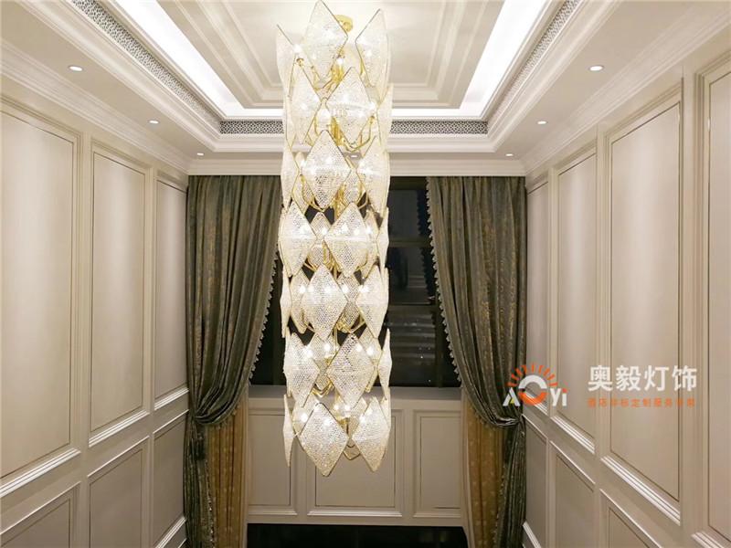奥毅工程案例   上海上亿豪宅灯具项目