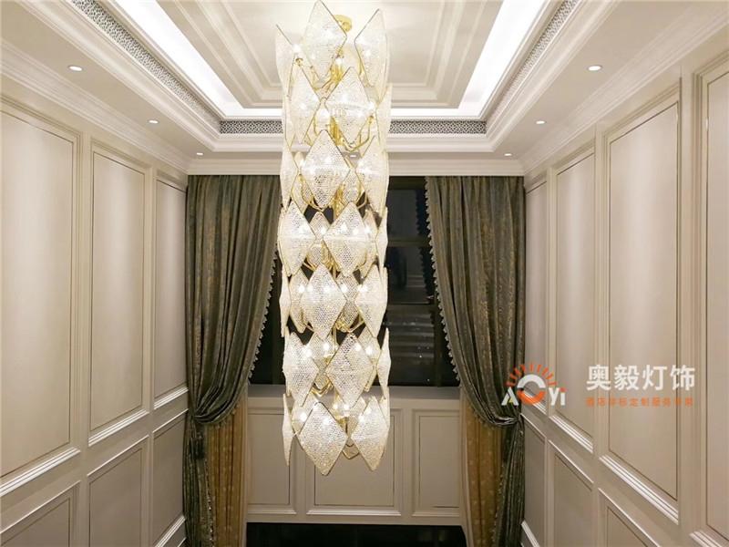 奥毅工程案例 | 上海上亿豪宅灯具项目
