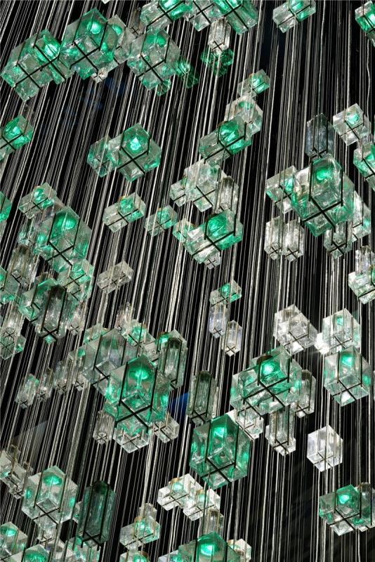 工艺玻璃 琉璃 艺术吊灯