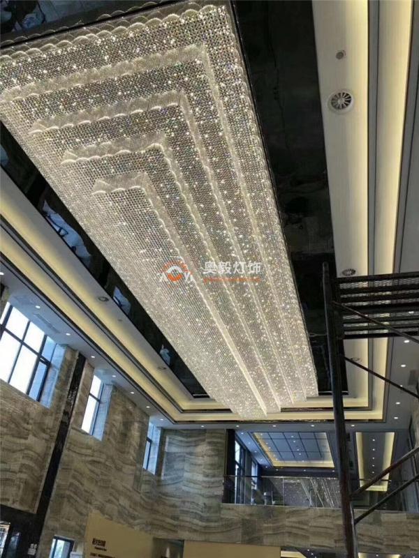 酒店会所大堂走廊工程定制水晶灯