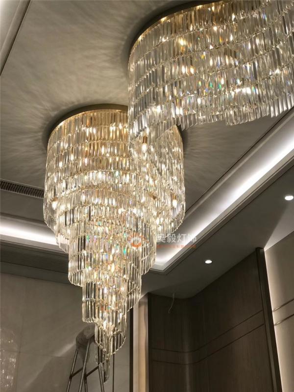 家用别墅客厅走道水晶吸顶灯