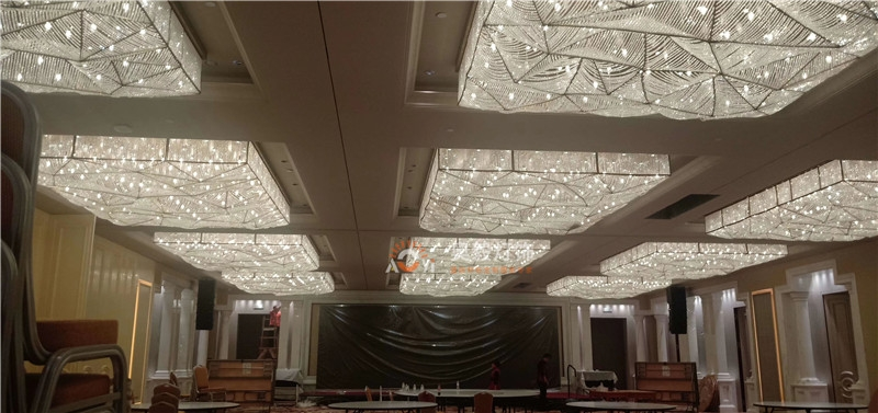 酒店大堂晏会厅会所非标定制水晶灯
