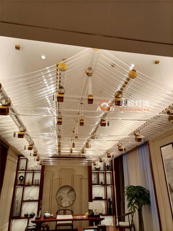 新中式亚克力屋檐装饰灯
