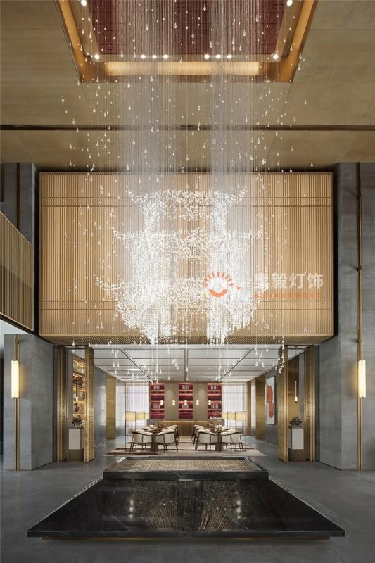 新中式水晶屋檐艺术装饰灯