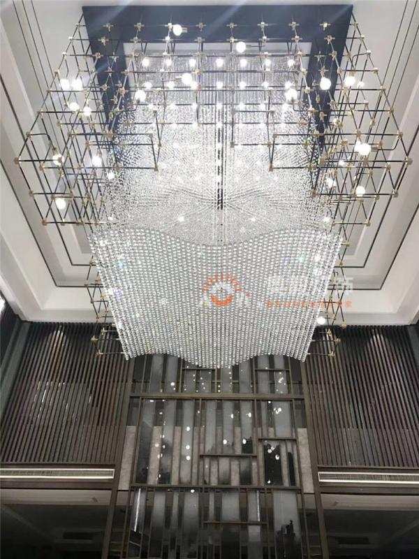 新中式售楼部工程水晶灯