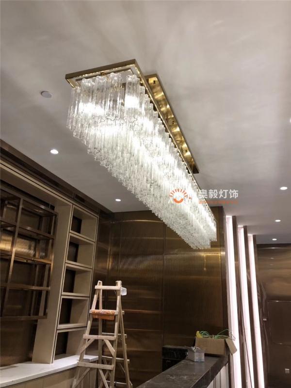 酒店会所售楼部吧台水晶灯
