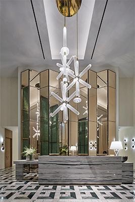 依据酒店的环境艺术设计合适酒店的灯光